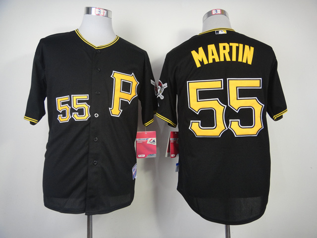 MLB Pittsburgh Pirates 55 Russell Martin Black 2014 Jerseys