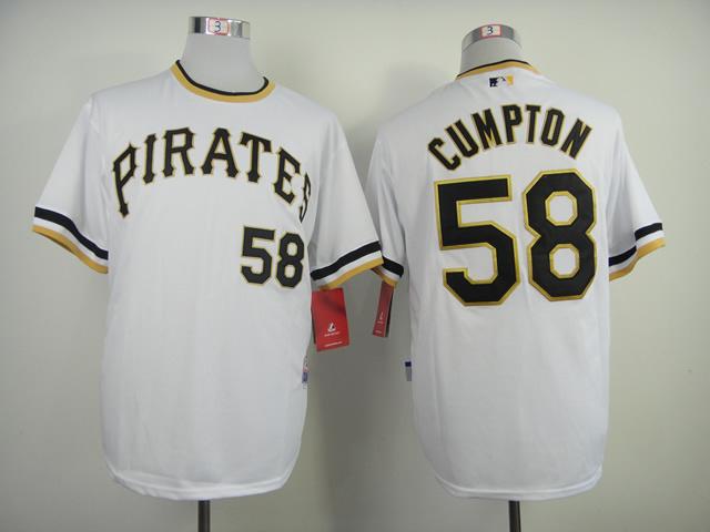 MLB Pittsburgh Pirates 58 Brandon Cumpton White 2014 Jerseys