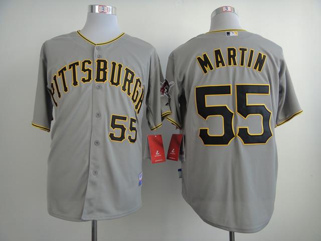 MLB Pittsburgh Pirates 55 Russell Martin Gray 2014 Jerseys