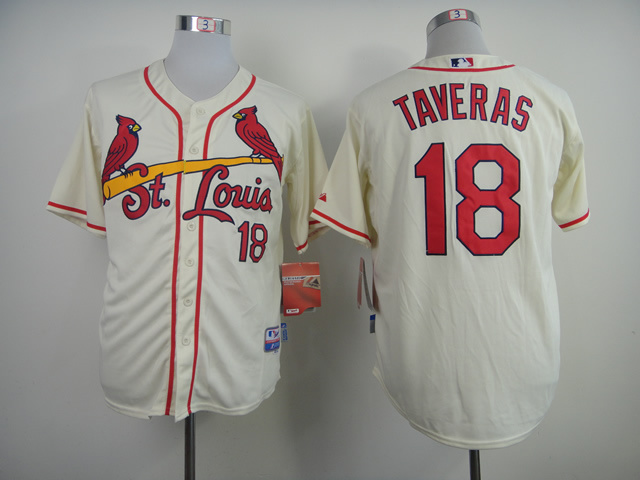MLB St. Louis Cardinals 18 Oscar Taveras Cream 2014 Jerseys