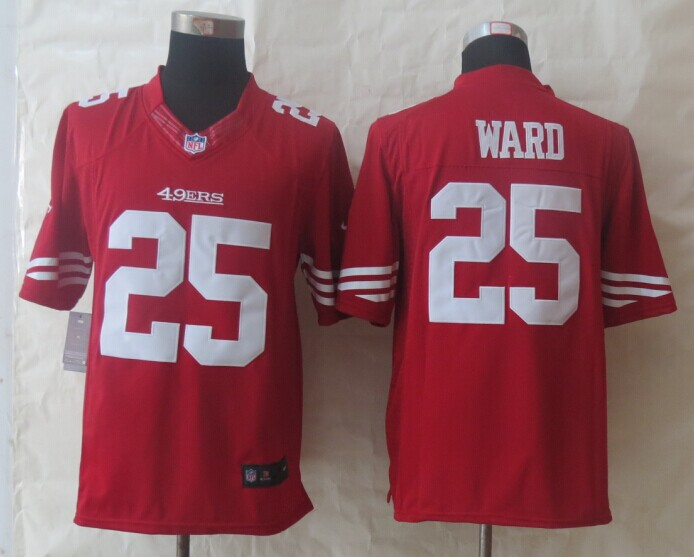San Francisco 49ers 25 Ward Red New Nike Limited Jersey