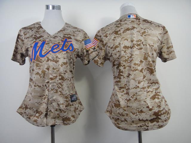 Womens MLB New York Mets Blank Camo 2014 Jerseys