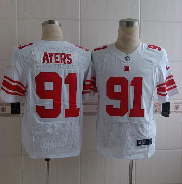 New York Giants 91 Ayers White 2014 Nike Elite Jerseys