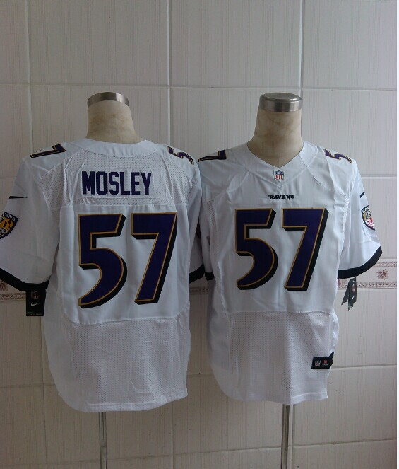 Baltimore Ravens 57 Mosley White 2014 Nike Elite Jerseys