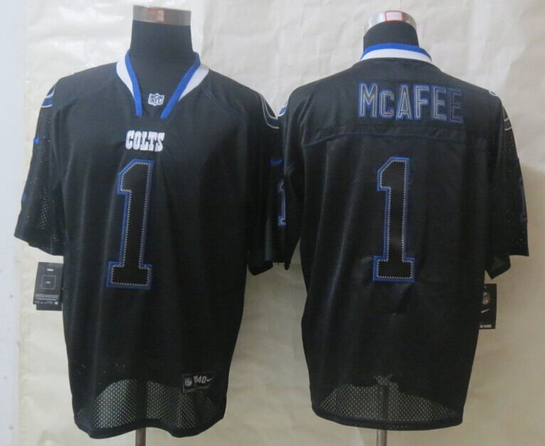 Indianapolis Colts 1 McAfee Lights Out Black New Nike Elite Jerseys