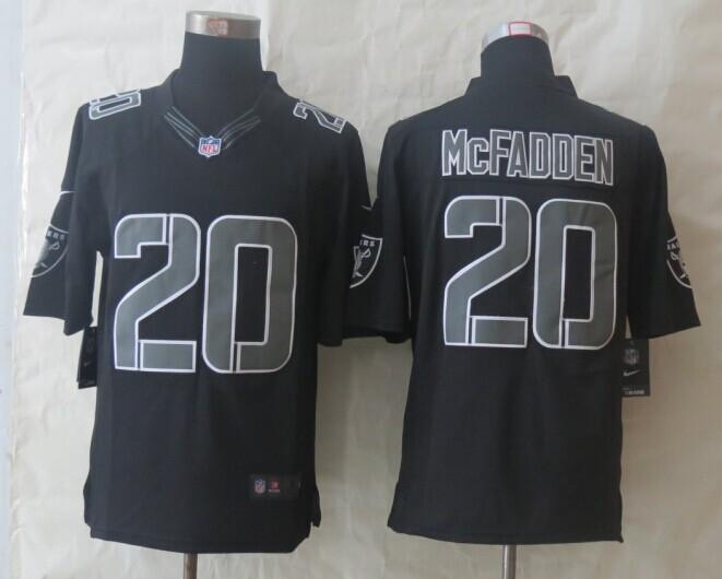 Oakland Raiders 20 McFadden New Nike Impact Limited Black Jerseys