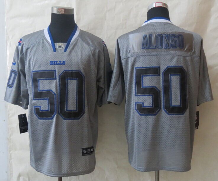 Buffalo Bills 50 Alonso New Nike Lights Out Grey Elite Jerseys