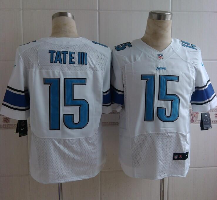 Detroit Lions 15 Tate III White Nike Elite 2014 Jerseys