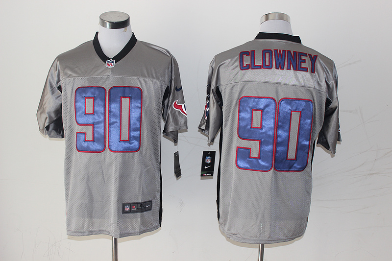 Houston Texans 90 Clowney Gray Shadow 2014 Jerseys