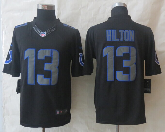 Indianapolis Colts 13 Hilton New Nike Impact Limited Black Jerseys