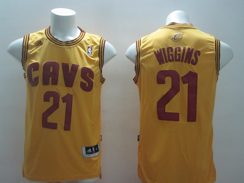 NBA Cleveland Cavaliers 21 Andrew Wiggins Yellow 2014 Jerseys