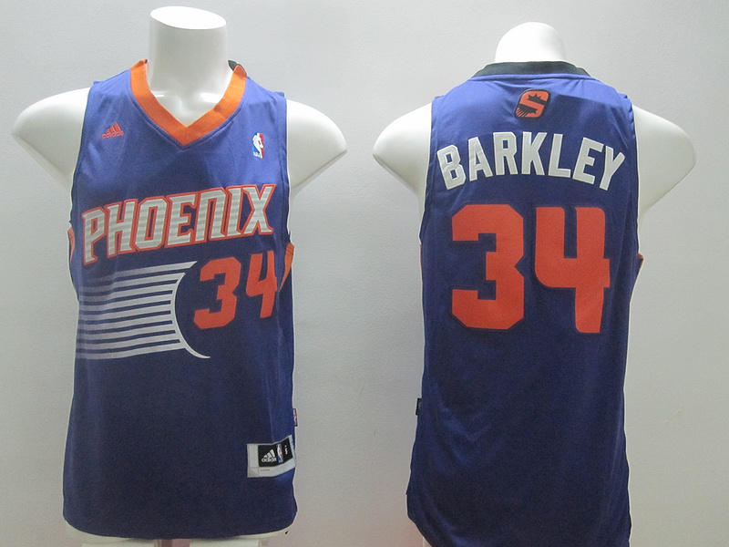 NBA Phoenix Suns 34 Charles Barkley Blue 2014 Jerseys