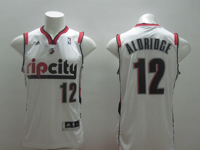 NBA Potland Trail Blazers 12 LaMarcus Aldridge White 2014 Jerseys