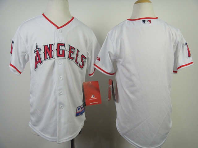 Youth MLB Los Angeles Angels Blank White 2014 Jerseys
