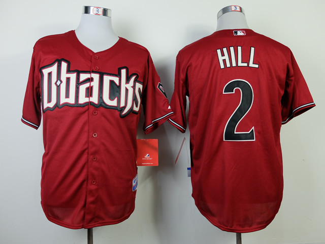 MLB Arizona Diamondbacks 2 Aaron Hill red 2014 Jerseys