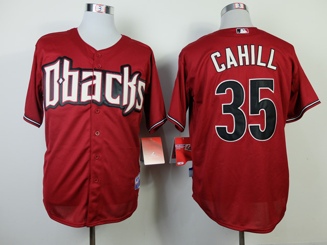 MLB Arizona Diamondbacks 35 Trevor Cahill red 2014 Jerseys