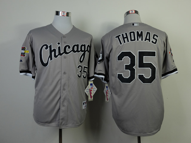 MLB Chicago White Sox 35 frank thomas Gray With 2005 World Brand