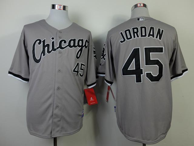 MLB Chicago White Sox 45 jordan Grey Jerseys