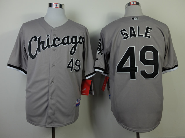 MLB Chicago White Sox 49 Chris Sale Grey Jerseys