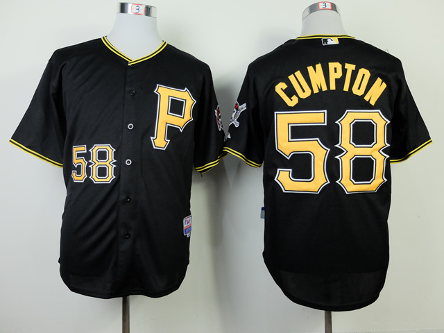 MLB Pittsburgh Pirates 58 Brandon Cumpton Black 2014 Jerseys