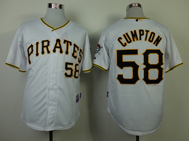 MLB Pittsburgh Pirates 58 Brandon Cumpton White 2014 Jerseys