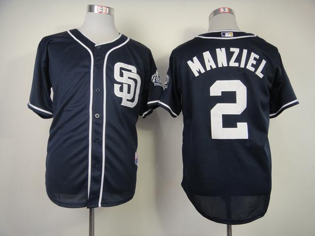 MLB San Diego Padres 2 Manziel Blue Jerseys