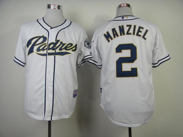 MLB San Diego Padres 2 Manziel White Jerseys