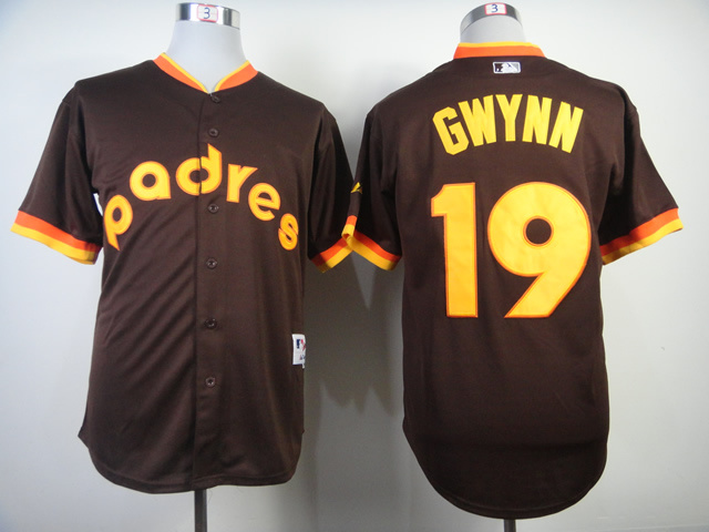 MLB San Diego Padres 19 Tony Gwynn Road 1984 Turn Back The Clock Jersey