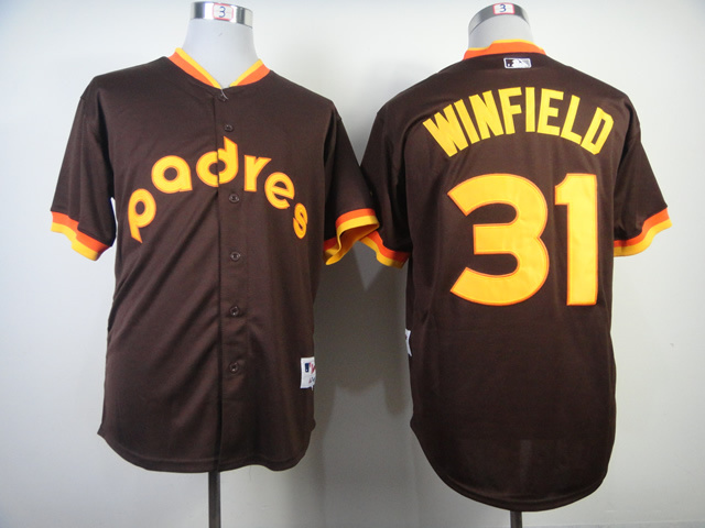 MLB San Diego Padres 31 Dave Winfield Road 1984 Turn Back The Clock Jersey