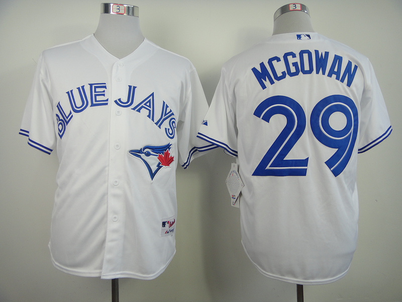 MLB Toronto Blue Jays 29 Mcgowan White 2014 Jerseys