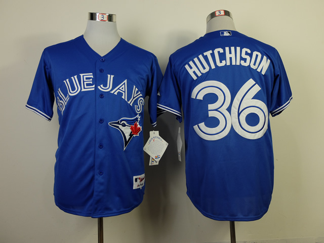 MLB Toronto Blue Jays 36 Drew Hutchiso Blue Jerseys