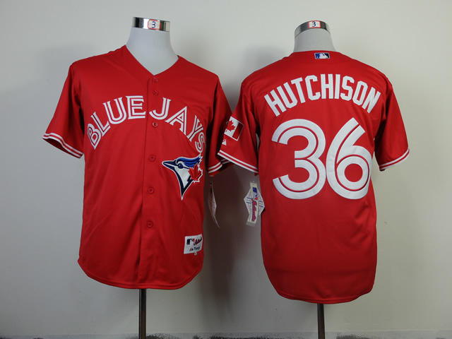 MLB Toronto Blue Jays 36 Drew Hutchison Red Jerseys