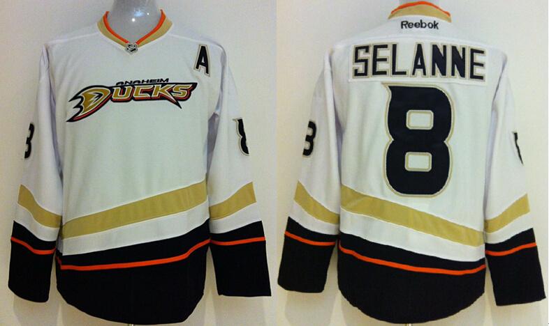 Anaheim Ducks 8 Teemu Selanne white 2014 jerseys