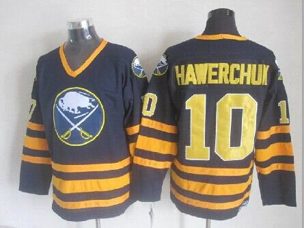 Buffalo Sabres 10 Hawerchuk blue 2014 jerseys