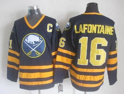 Buffalo Sabres 16 Lafontaine blue 2014 jerseys