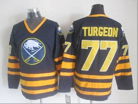 Buffalo Sabres 77 Turgeon blue 2014 jerseys