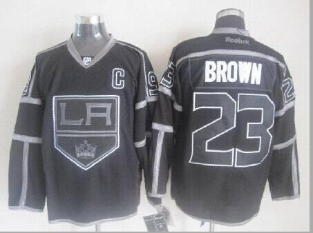 NHL Los Angeles Kings 23 Brown Black Jerseys