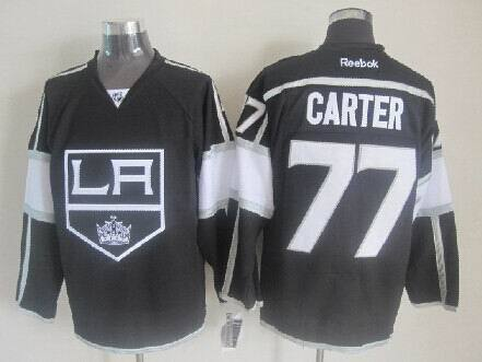 NHL Los Angeles Kings 77 Jeff Carter Black Jerseys