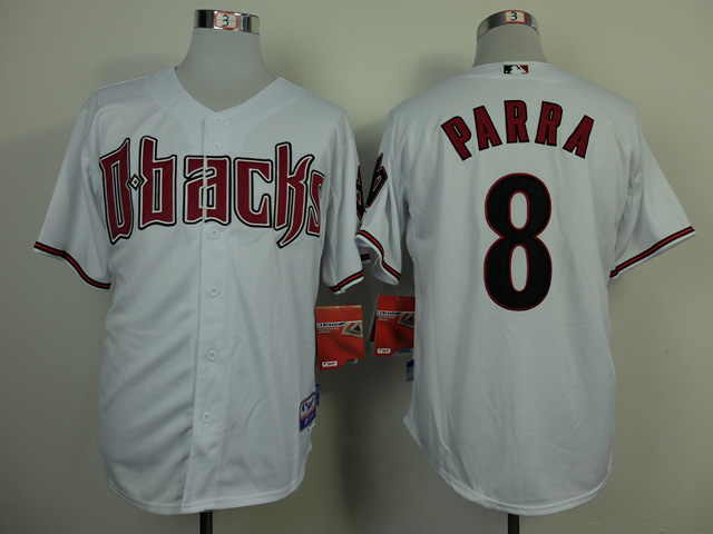 MLB Arizona Diamondbacks 8 Parra white 2014 Jerseys
