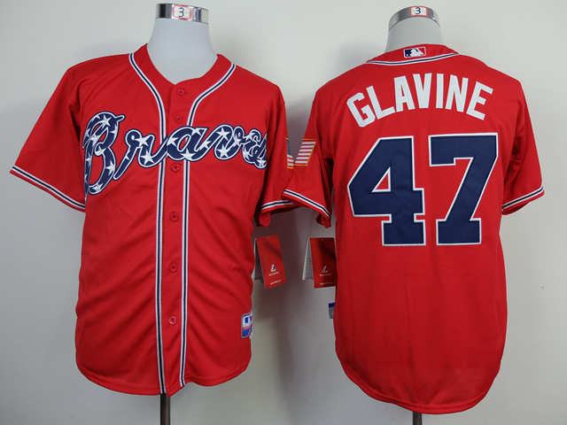 MLB Atlanta Braves 47 Glavine red 2014 jerseys