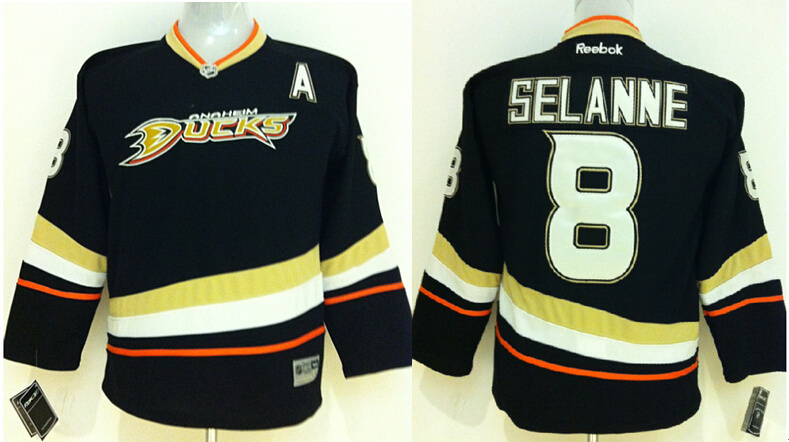 Youth NHL Anaheim Ducks 8 Anaheim Ducks Black 2014 Jerseys