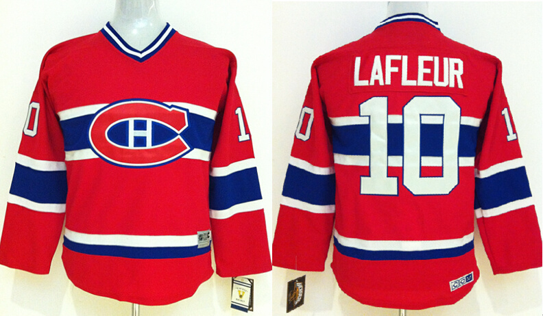 Youth NHL Montreal Canadiens 10 Guy Lafleur Red 2014 Jerseys