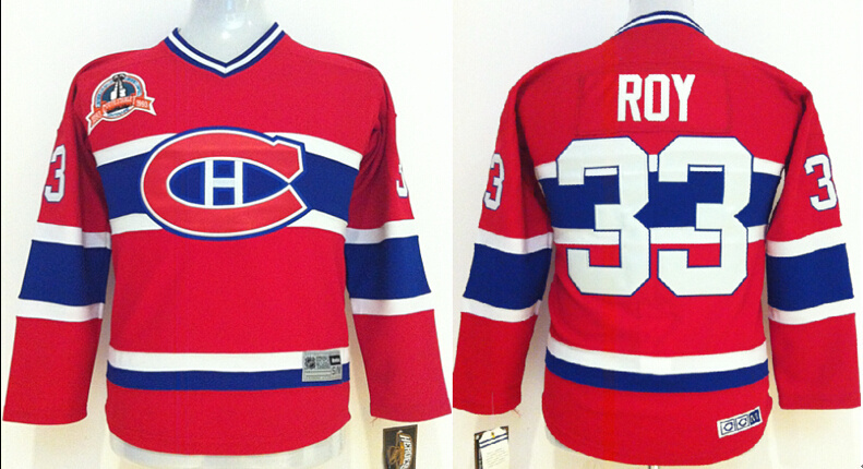 Youth NHL Montreal Canadiens 33 Roy Red 2014 Jerseys