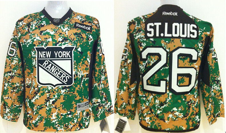Youth NHL New York Rangers 26 ST.Louis Camo 2014 Jerseys