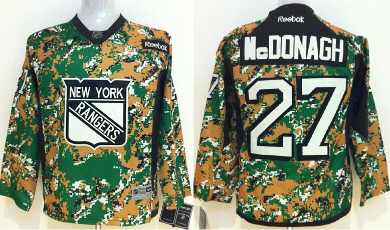 Youth NHL New York Rangers 27 Mcdonagh Camo 2014 Jerseys