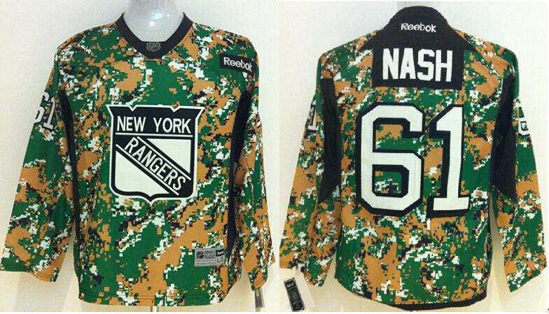 Youth NHL New York Rangers 61 Rick Nash Camo 2014 Jerseys