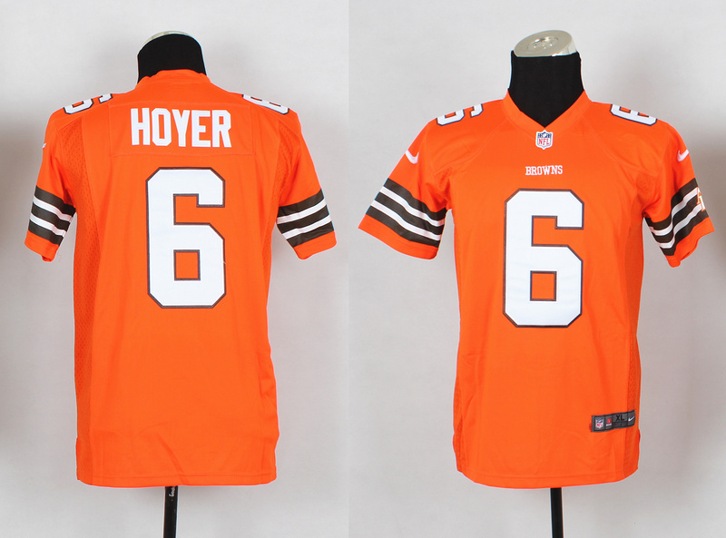 Youth Cleveland Browns 6 Brian Hoyer Orange 2014 Nike Jerseys
