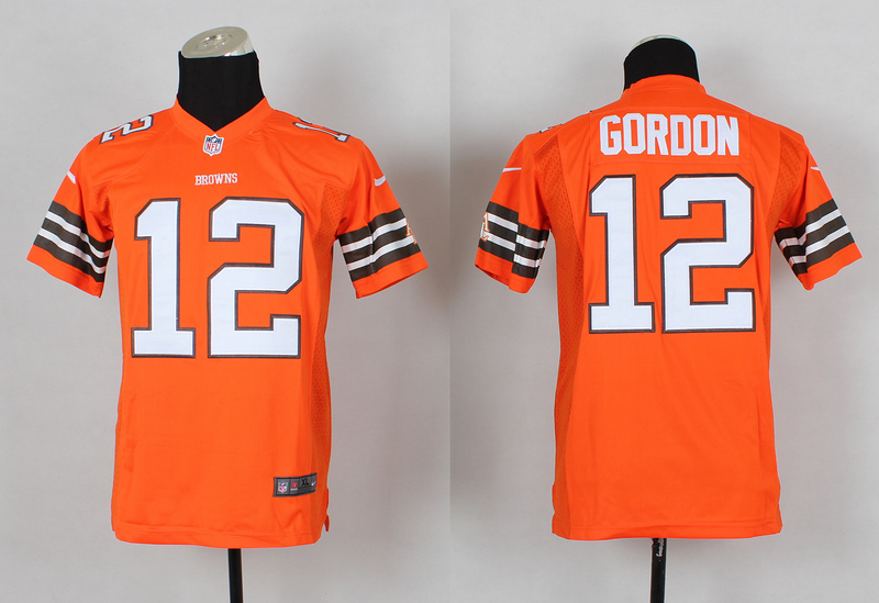 Youth Cleveland Browns 12 Josh Gordon Orange 2014 Nike Jerseys