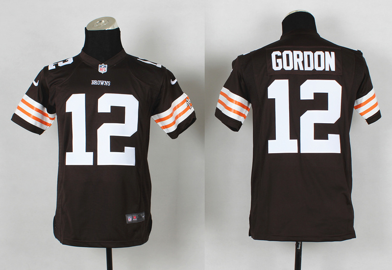 Youth Cleveland Browns 12 Josh Gordon brown 2014 Nike Jerseys