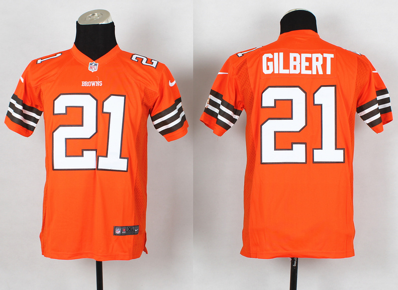 Youth Cleveland Browns 21 Justin Gilbert Orange 2014 Nike Jerseys